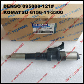 China Genuine DENSO common rail injector 095000-1210 , 095000-1211 for KOMATSU 6156-11-3300 , 6156-11-3301 original and new factory